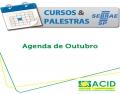 Agenda de Cursos e Palestras - Outubro